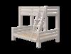 Łóżko Classic Combi piętrowe; z drabinką pochyłą z zintegrowanym uchwytem,szary