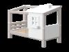 Łóżko niskie Classic z DOMKIEM 1/2, sosna szara, 154x210x129,5 cm,
