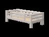 Łóżko niskie, pojedyncze Classic z poręczą zabezpieczającą tylną