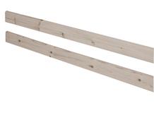 Tylna poręcz zabezpieczająca krótsza do łóżka Classic krótszego, terra, 38x187cm