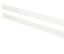 Tylna poręcz zabezpieczająca do łóżka Classic , bielony, 38x197cm