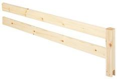 Poręcz zabezpieczająca 3/4 krótsza do drabinki lub platformy, bezbarwny 38x147cm