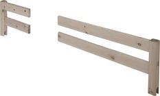 Dzielona poręcz zabezpieczająca krótsza do platformy, bielona