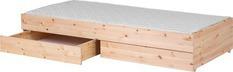 Łóżko wysuwane typu Trundle krótsze, z szufladami, pasuje materac 180cm,