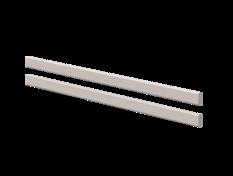 Poręcz tylna 1/1 zabezpieczająca do łóżka Classic , szary, 38x197cm