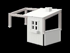 Domek 1/2 krótszy do krótszego łóżka Classic niskiego lub średniowysokiego, rama
