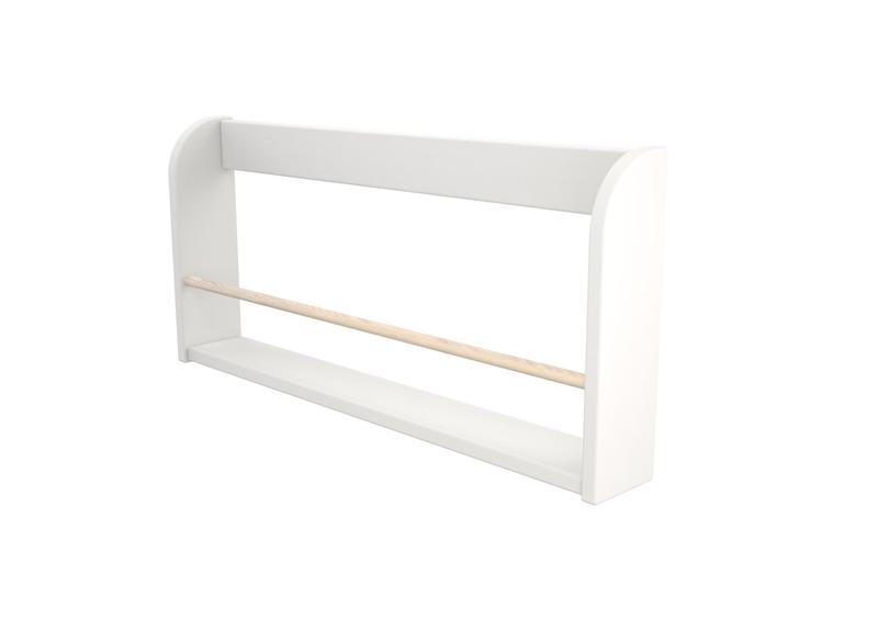 Półka Na Książki Biała Mdf Montowana Na łóżku Lub ścianie