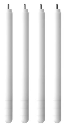 Dodatkowe nogi do krzesła, wys 36,5/40/43 cm - białe