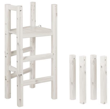Platforma i nogi do łóżka średniowysokiego, bielony