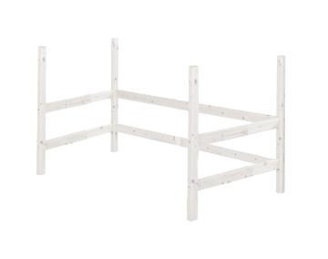 Nogi do wysokiego krótszago łóżka, bielone,118x200x100