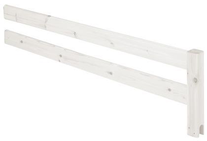 Poręcz zabezpieczająca 3/4 krótsza do drabinki lub platformy, bielony, 38x147 cm