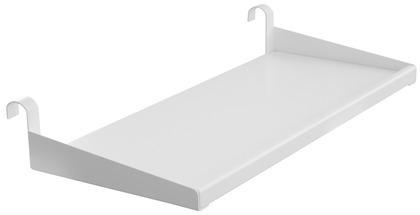 Półka do zawieszenia na łóżku MDF, metal/MDF, biała, wym 25x 41 cm