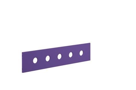 Poręcz zabezpieczająca 1/2 krótsza, fioletowa, do zjeżdżalni