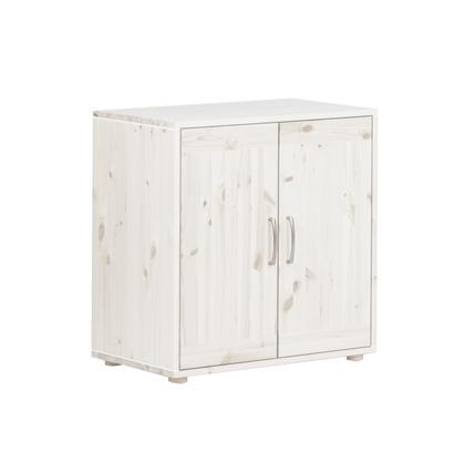 Szafka z 2 drzwiami i 1 półką. Korpus sosna bielona, fronty sosna bielona.