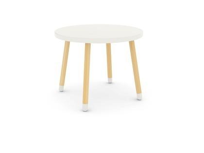 Stolik, MDF, Biały, nogi jesion, śr. 60 * 47 cm