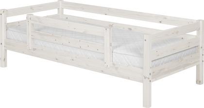 Łóżko pojedyncze Classic krótsze, poręcze 1/1 tylna i 1/2 z przodu, bielony