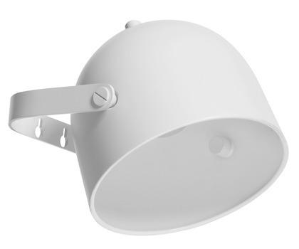 Lampka ścienna Monty, biała, śr 17 cm