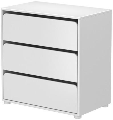 Komoda CABBY z 3 szufladami,wym 74,5x72x43,5 biały MDF.