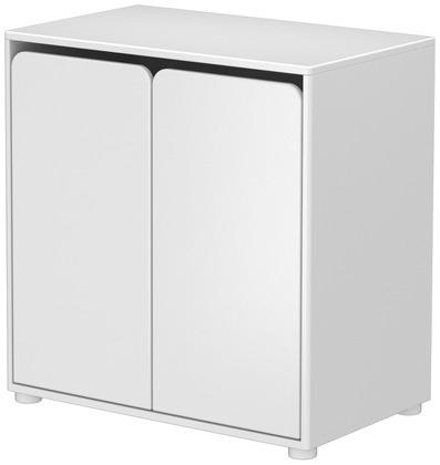Szafka CABBY z 2 drzwiami, 1 półką, wym. 74,5x72x43,5, biały, MDF