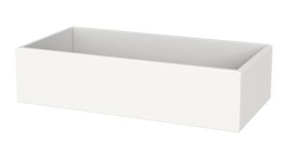 Organizer, głęboka półka do regału lub półka do zamontowania na ściane, MDF biał