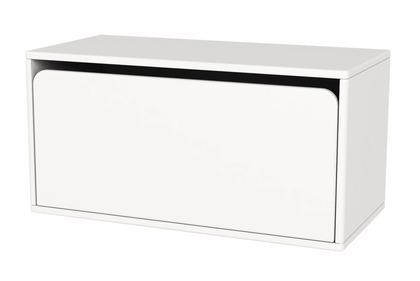 Komoda z 1 głęboką szufladą, 36x72x34,8, biały MDF