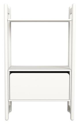 Midi B regał z 1 półką i komodą z gł.szufladą,białyMDF,nogi lakier biały kryjący