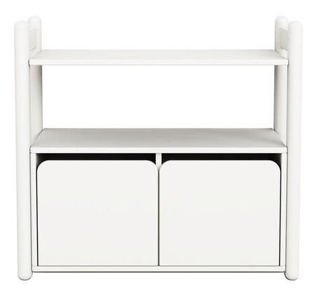 MiniC regał z1półką i szafką zamykaną z2 drz.białyMDF,nogi lakier biały kryjący