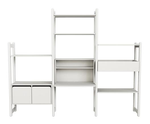 Combi 8 Zestaw regałów, zawiera: 1 biurko, 1 organizer, półki