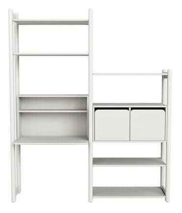 Combi 5 : Zestaw regałów: zawiera: 1 biurko, 1 szafka zamykana z 2 drzwiczkami,