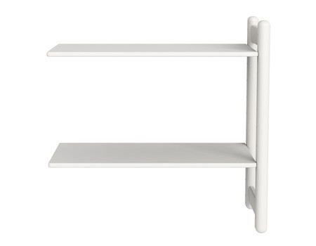 Mini Z regał rozbudowujący Combi, 2 półki. biały MDF, nogi białe