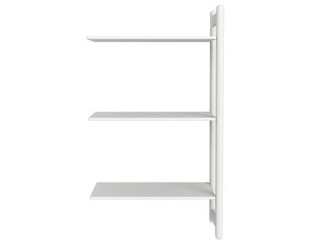 Midi Z regał rozbudowujący Combi, 3 półki, biały MDF, nogi białe