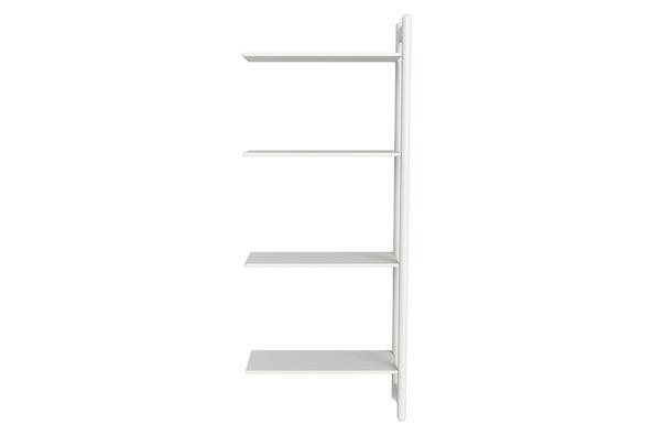 Maxi Z regał rozbudowujący, 4 półki, biały MDF, nogi białe