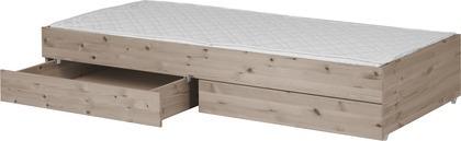 Łóżko wysuwane typu Trundle, z szufladami, pasuje materac 190cm,