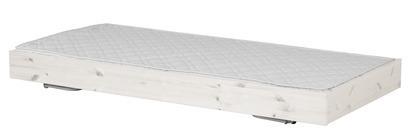 Łóżko wysuwane, krótsze, 190cm, sosna, lakier bielony, potrzebny materac 180x90c