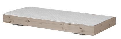 Łóżko wysuwane, 200cm, sosna, lakier terra, potrzebny materac 190x90cm