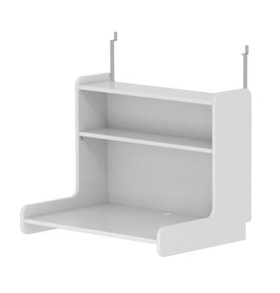 Biurko Click-on z półką do wysokiego łóżka MDF FLEXA White, białe