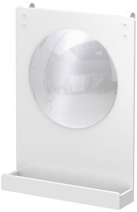 Lustro do łóżek MDF lub na ścianę,białe, 55x40x9,5 cm.
