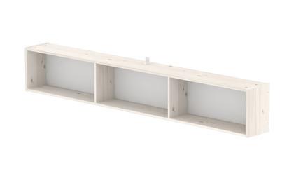 Półka z 3 przedziałami, sosna bielona.wym:30x196,7x21,5cm;