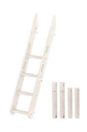 Nogi do łóżka piętrowego 140/90 cm z płytą zabezpieczającą, bielony; do stosowan