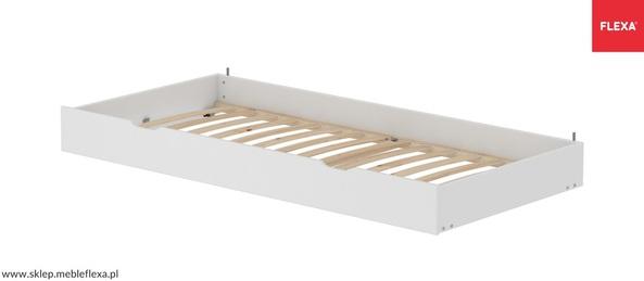 Łóżko MDF wysuwane krótsze, stelaż sosnowe deski lite, potrzebny  materac 180x90