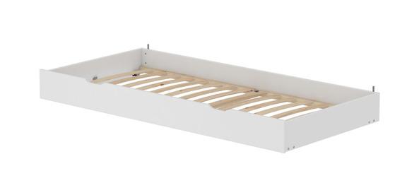 Łóżko MDF wysuwane , stelaż sosnowe deski lite, potrzebny  materac 190x90cm