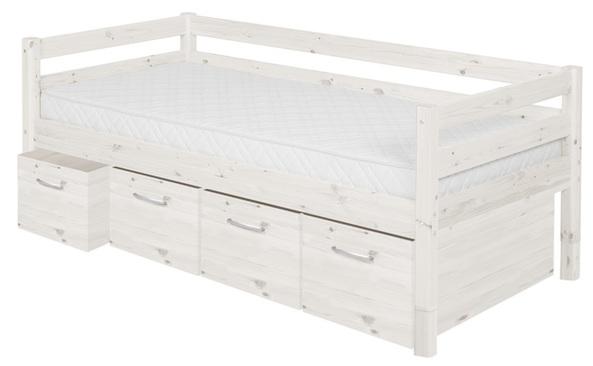 Łóżko Classic krótszy z 4 szufladami głębokimi 30cm,  wym :76,5x200x100cm,