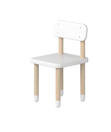 Krzesło z oparciem BIAŁE, wykonane z drewna jesionowego i mdf