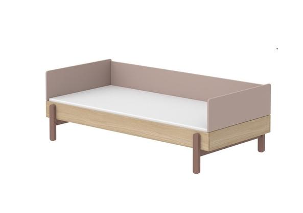 Łóżko niskie 90cm z poręczą tylną WIŚNIA, Popsicle
