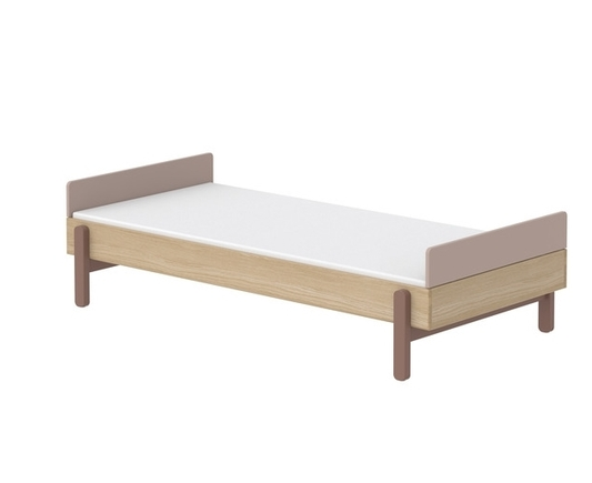 Łóżko niskie 90cm z niskimi zagłówkami WIŚNIA, Popsicle