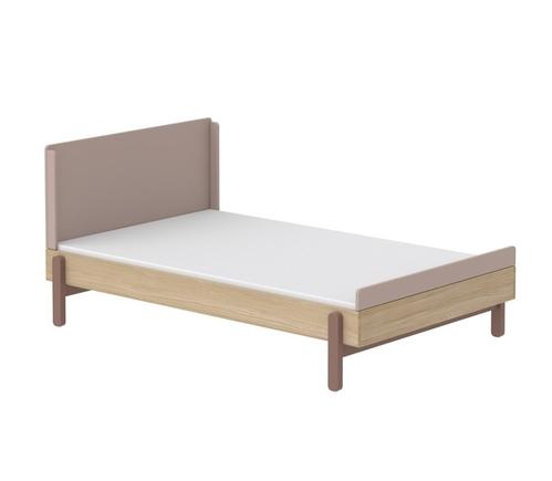 Łóżko szerokie 120 cm WIŚNIA z niskim/wysokim zagłowkiem,