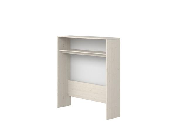 Nadstawka niska nad biurko, 135,5x125,6x34,5cm, sosna bielona/ paski białe