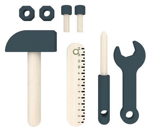 Zestaw narzędzi, komplet 8 szt, lita brzoza.