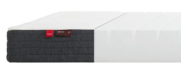Materac piankowy <40kg z nacięciami powierzchni,, tapicerka bawełniana, Oeko-Tex
