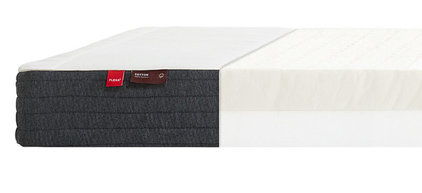 Materac lateksowy, 12x200x90cm, tapicerka bawełniana, Oeko-Tex